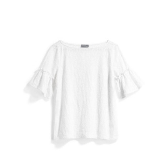e9b1b564ff1 Market   Spruce White Flutter Sleeve Stitch Fix 1X